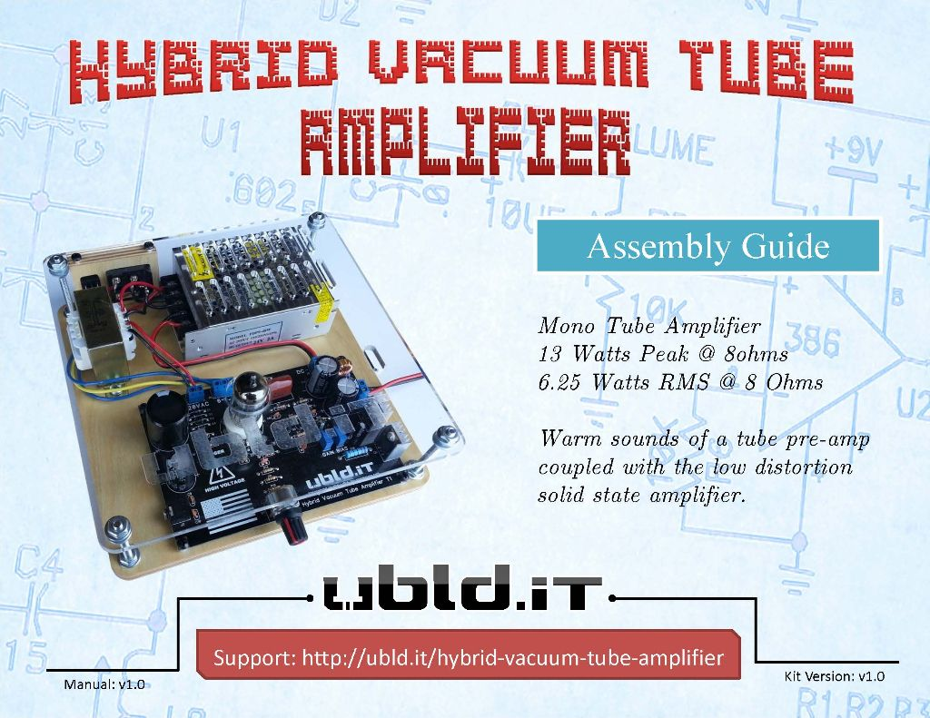 Hybrid Vacuum Tube Audio Amplifier - ubld it - TrueRNG and