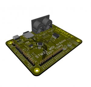 3d view of custom PCB
